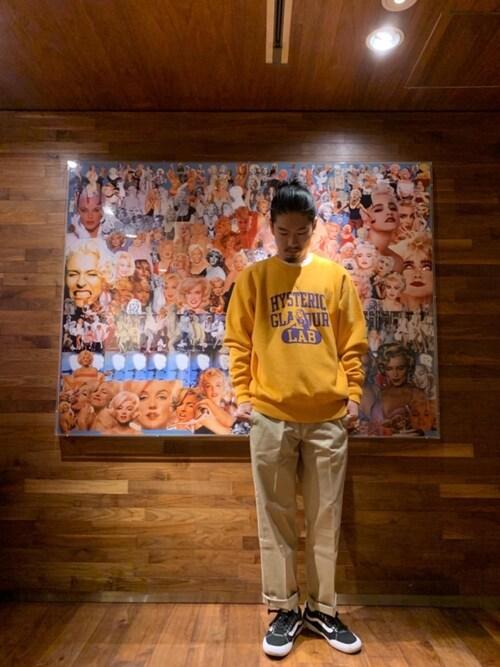 HYSTERIC GLAMOUR渋谷店Ke Shibuyaさんのチノパンツ「ミリタリーチノパンツ(HYSTERIC GLAMOUR|ヒステリックグラマー)」を使ったコーディネート