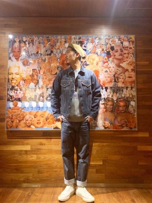 HYSTERIC GLAMOUR渋谷店Ke Shibuyaさんのデニムパンツ「RAWデニム ストレートパンツ(HYSTERIC GLAMOUR|ヒステリックグラマー)」を使ったコーディネート