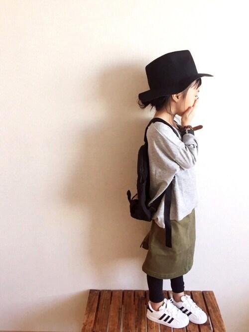 miyuuu.さんの「【GROOVY STORE】スパンデニム&ツイルスカート(裏地パンツ)(Burner)」を使ったコーディネート