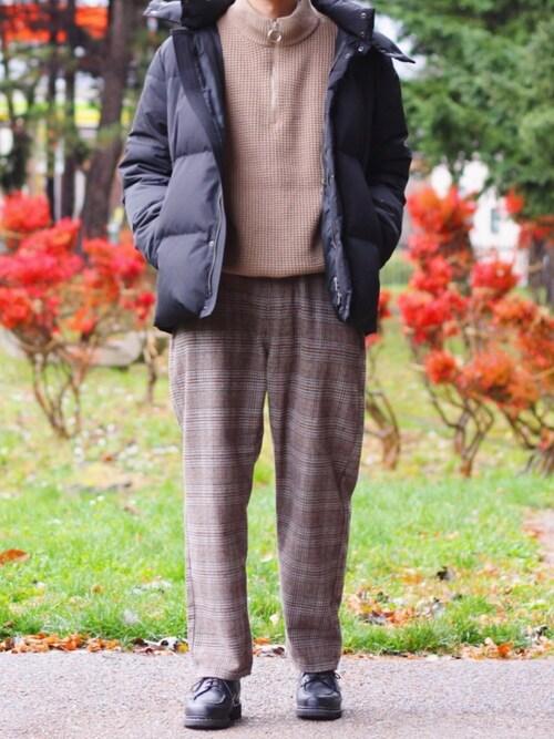 れぽすけさんのダウンジャケット/コート「【MR.OLIVE】WATER PROOF MICRO TWILL / 2 WAY DOWN JACKET(MR.OLIVE ミスターオリーブ)」を使ったコーディネート