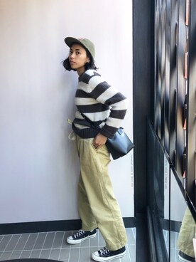 "vasitii is wearing MANSUR GAVRIEL ""<MANSUR GAVRIEL(マンサー ガブリエル)>MINI BUCKET BAG■■■"""