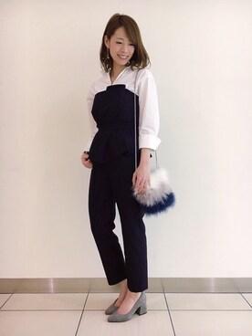 yumiさんの「ビッグカフスオーバーシャツ(laboratory work|ラボラトリーワーク)」