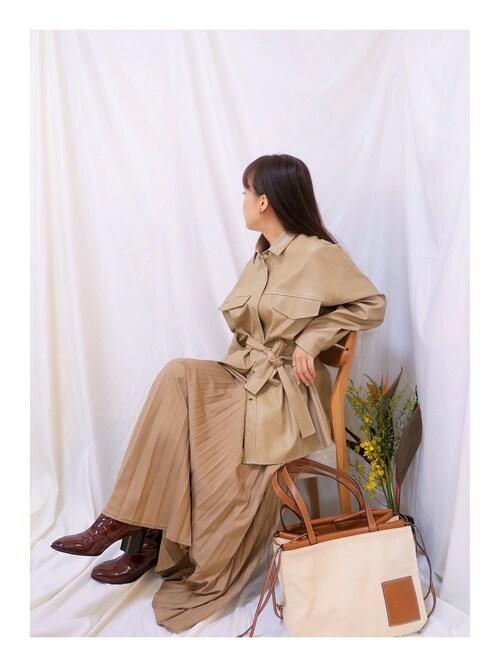 ❤テイ❤さんの「Loewe - Cushion Small Canvas Tote Bag - Womens - Beige Multi(Loewe)」を使ったコーディネート