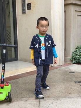 2bf73d243809d bo♡さんの「ベースボールシャツ(petit main プティマイン)」を. 2019.5 16. MIKI HOUSE(ミキハウス) ...