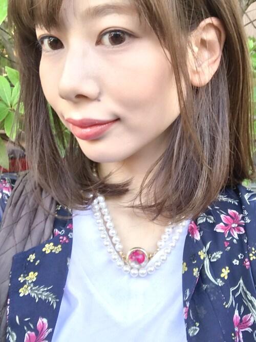 glamb 本社スタッフMICHIRUさんのネックレス「【ZOZOTOWN先行】Rose necklace(DISNEY BEAUTY AND THE BEAST)(Disney ディズニー)」を使ったコーディネート