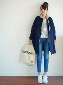 "u.e.made* is wearing CONVERSE ""CONVERSE LEA JACKPURCELL◆"""