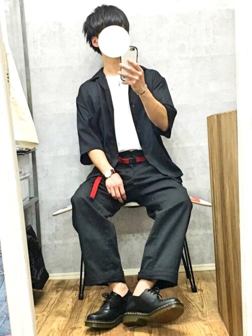 gakuさんのシャツ/ブラウス「サテンカイキンシャツ(HARE)(HARE|ハレ)」を使ったコーディネート