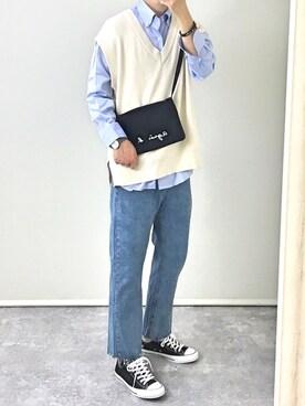 cbe690a5e8d gakuさんの「ドレスシャツ(カスタムオーダー)/無地 サックスブルー[MEN