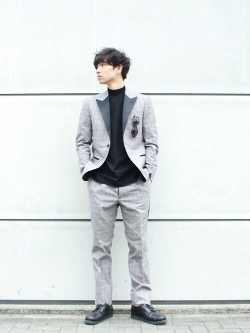 UNITED TOKYO NAGOYAりょうさんのTシャツ/カットソー「ギザコットンモックネックTee(UNITED TOKYO ユナイテッドトウキョウ)」を使ったコーディネート
