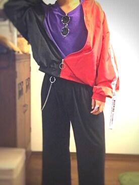 597f56a74540 ウチノタクミ.さんの「【Champion】チャンピオン コットン 無地 半袖 Tシャツ(Champion