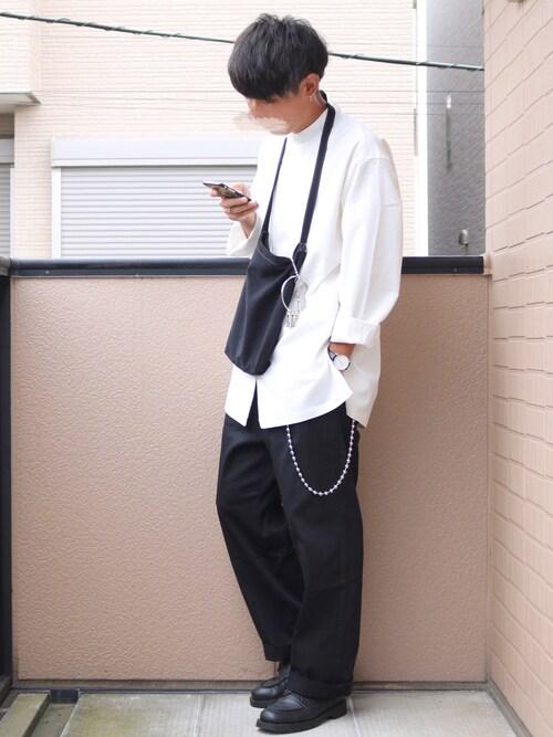 daiさんのシャツ/ブラウス「【MYSELF ABAHOUSE】バンドカラーオーバーコールシャツ(MYSELF ABAHOUSE|マイセルフアバハウス)」を使ったコーディネート