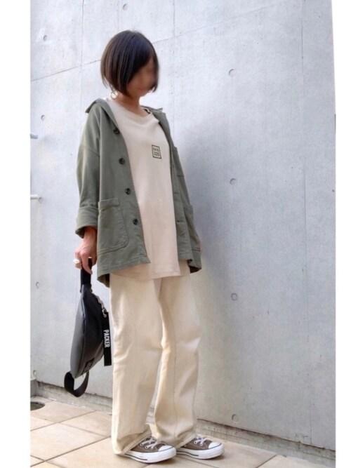 なな☺︎さんの「WEARISTA Deco × INTER FACTORY ロゴプリントビッグTシャツ(INTER FACTORY)」を使ったコーディネート