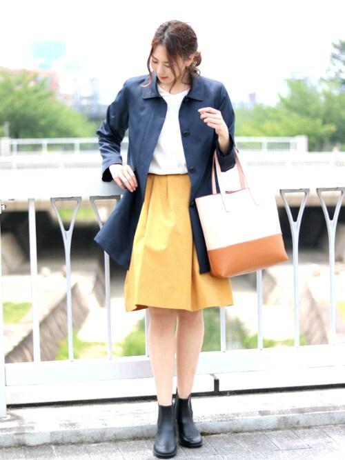 sankyoshokaiさんの「サイドゴア レイン ブーツ シューズ ショート レディース(sankyo shokai)」を使ったコーディネート