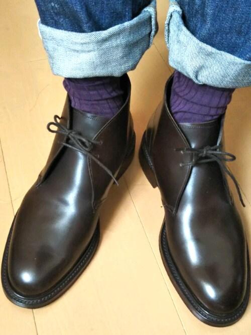 msayanko氏がWEARに投稿したコーデ|カジュアルシューズとしても使いやすいため、カジュアルコーデをドレスアップする一足として用いられることも。