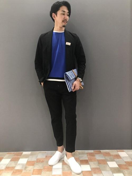 LE TRIO ABAHOUSE川崎アトレONDAさんのテーラードジャケット「【セットアップ対応】ポリエステル圧着ジャケット(ABAHOUSE|アバハウス)」を使ったコーディネート