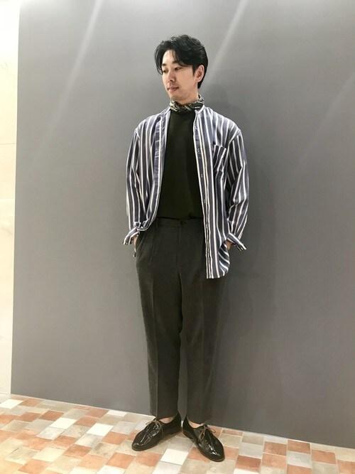 LE TRIO ABAHOUSE川崎アトレONDAさんのTシャツ/カットソー「TR鹿の子ダブルフェイスTシャツ(ABAHOUSE|アバハウス)」を使ったコーディネート
