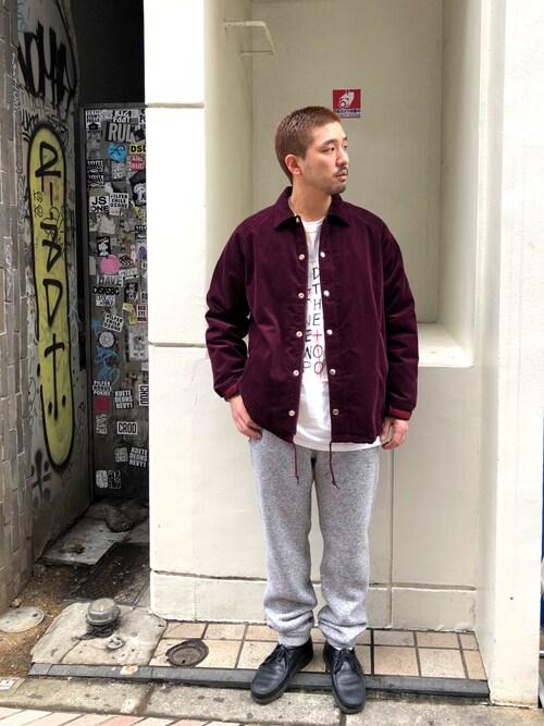 BEAVER渋谷店 Funachangさんのブルゾン「MANASTASH/マナスタッシュ MT COACH JKT�U(MANASTASH|マナスタッシュ)」を使ったコーディネート