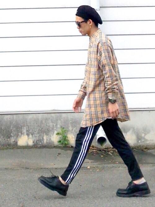 TogAさんの「オリジナルス トラックパンツ [BECKENBAUER TRACK PANTS](adidas)」を使ったコーディネート