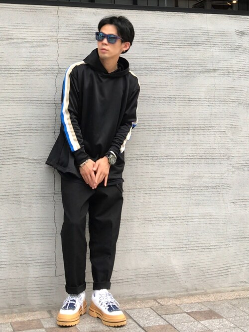 TogAさんの「VOTE MAKE NEW CLOTHES HOODED JERSY PULL OVER(VOTE MAKE NEW CLOTHES)」を使ったコーディネート