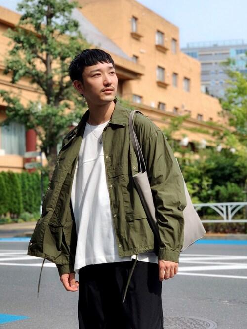 WEGO PRESS黒坂学さんのその他アウター「WEGO/コットンタイプライタークロップドワークジャケット(WEGO|ウィゴー)」を使ったコーディネート