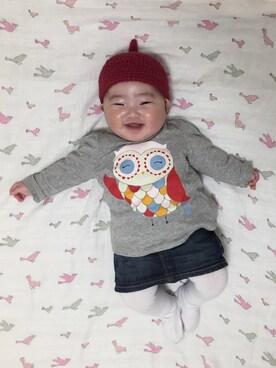 3412969504444 デニムスカートを使った「赤ちゃんコーデ」のコーディネート一覧(髪型 ...