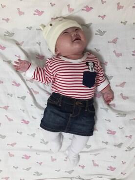 27457201c8530 デニムスカートを使った「赤ちゃんコーデ」のコーディネート一覧(髪型:ベリー ...