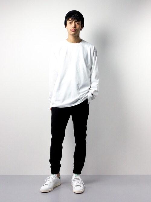ZOZOTOWNryuto irieさんのTシャツ/カットソー「Champion Authentic T-SHIRTS/ チャンピオン コットン Tシャツ Long Sleeve T(Champion|チャンピオン)」を使ったコーディネート