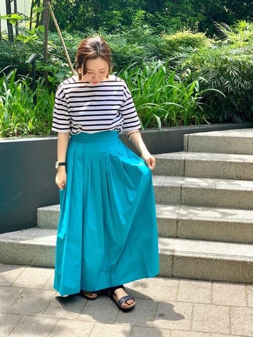 everyday by collex  東急プラザ銀座店HAYASHIさんのスカート「ランダムタックスカート(collex|コレックス)」を使ったコーディネート