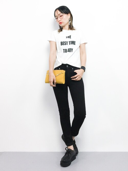 ZOZOTOWNCOLLENTE(yuco)さんのTシャツ/カットソー「TODAY'S SIMPLE Tee(MERCURYDUO|マーキュリーデュオ)」を使ったコーディネート