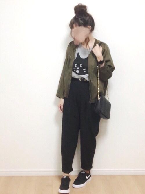 i-waさんのTシャツ/カットソー「にゃー T(にゃー|ニャー)」を使ったコーディネート