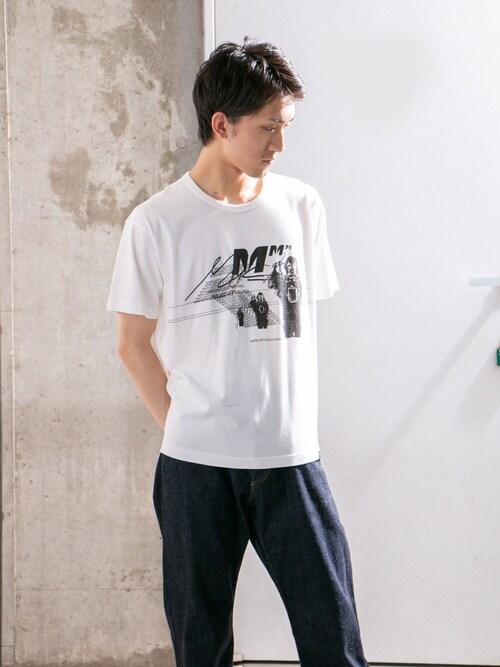 WORK NOT WORK URBAN RESEARCHkose1さんのTシャツ/カットソー「MASK PRINT T-SHIRTS-B(WORK NOT WORK URBAN RESEARCH|ワークノットワークアーバンリサーチ)」を使ったコーディネート