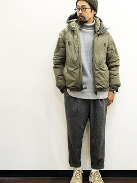 two things & think|nakajiさんの「MANUAL x NANGA down jacket(MANUAL ALPHABET)」を使ったコーディネート