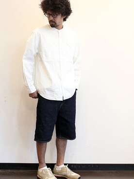 "two things & think|nakajiさんの「Ordinary fits (オーディナリーフィッツ) "" STAND WORKERS SHIRTS ""(Ordinary fits)」を使ったコーディネート"