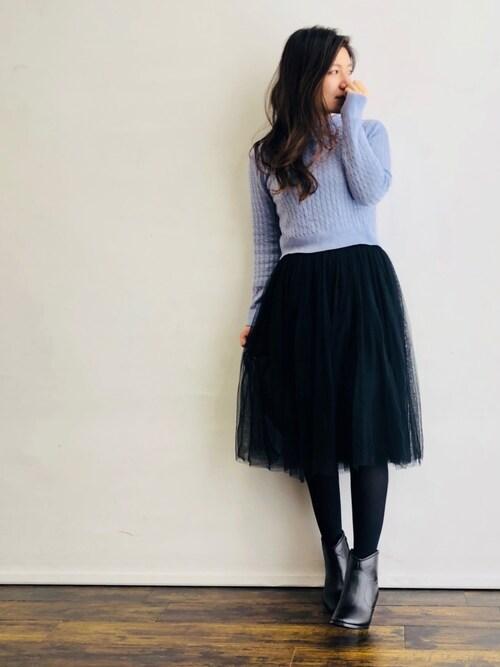Faux Pas Paris ZOZOTOWN店magaaさんのスカート「ふんわりチュールスカート(coca|コカ)」を使ったコーディネート