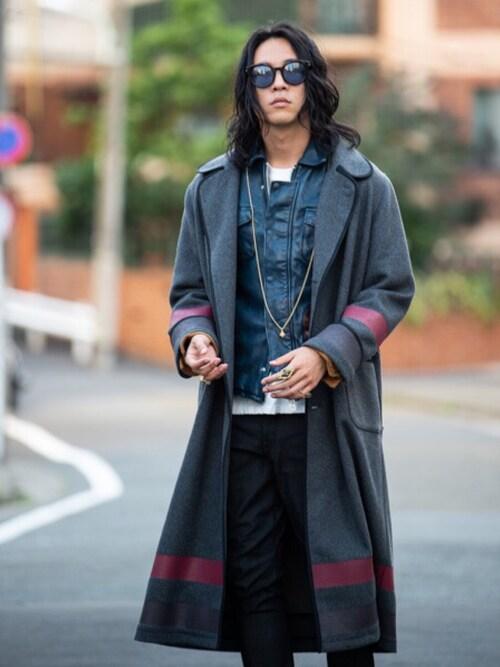 glamb 本社スタッフ【glamb】TKさんのその他アウター「Lawrence long coat / ローレンスロングコート(glamb|グラム)」を使ったコーディネート
