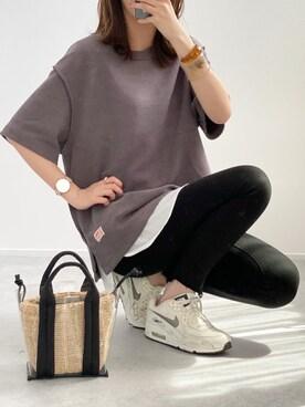 minminmaaaさんのTシャツ/カットソー「《JaVaジャバ コラボ》ふわり滑らか♪USAコットンパイル地Tシャツ(Java ジャバ)」を使ったコーディネート
