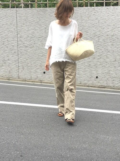 sandinistamikiさんのチノパンツ「B.C. Chino Pants - Wide / チノパンツ - ワイド(Sandinista|サンディニスタ)」を使ったコーディネート