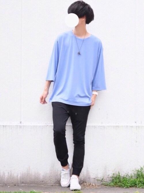 とっしーさんのTシャツ/カットソー「ビッグシルエットドロップショルダー ビッグシルエットカットソー(summer sleeve)(MONO-MART|モノマート)」を使ったコーディネート