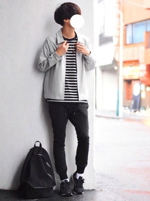 とっしーさんのブルゾン「コットンツイル/デニム/ストライプ/チェック ジップブルゾン ジャケット/スイングトップ/スウィングトップ(EMMA CLOTHES エマクローズ)」を使ったコーディネート