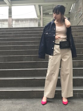 ADAM ET ROPE' ルミネ北千住|前島 千奈都さんの「【SOMETHING for ADAM ET ROPE'】FRENCH NOUVEAU - DENIM JACKET -(SOMETHING)」を使ったコーディネート