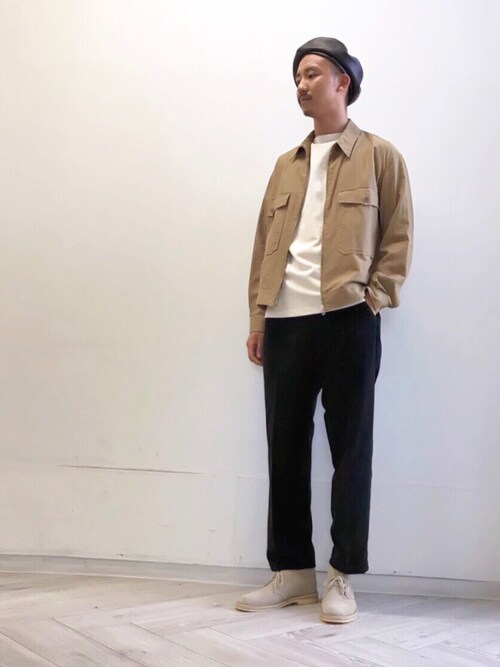 ITOさんの「【ORCIVAL】コットンロード フレンチバスクシャツ SOLID MEN(ORCIVAL)」を使ったコーディネート