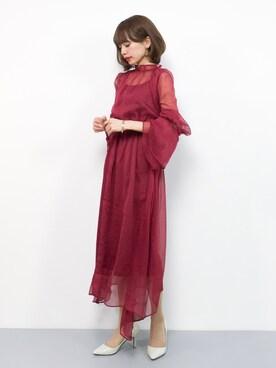 4b048f98fe1da ドレスを使った「赤」のコーディネート一覧 - WEAR