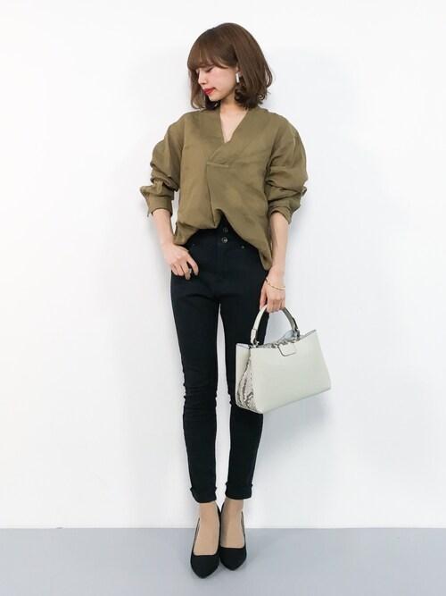 ZOZOTOWNerikoさんのシャツ/ブラウス「ラミー スキッパーシャツ(MACPHEE|マカフィー)」を使ったコーディネート