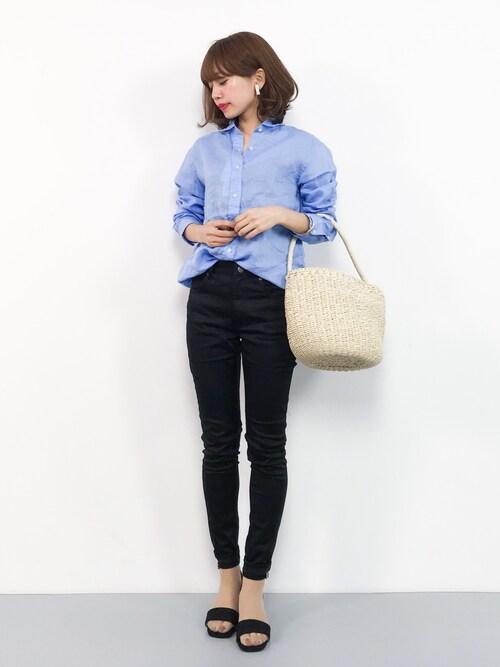 ZOZOTOWNerikoさんのシャツ/ブラウス「ビーミング by ビームス / ハードマンズ リネンシャツ 18SS(B:MING by BEAMS|ビーミングバイビームス)」を使ったコーディネート