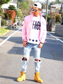 "近岡良次 is wearing Timberland ""<Timberland> 6in PRMIUM BOOTS/ブーツ"""