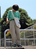"た  い  か〝 is wearing MHL. ""・HEAVY CANVAS"""