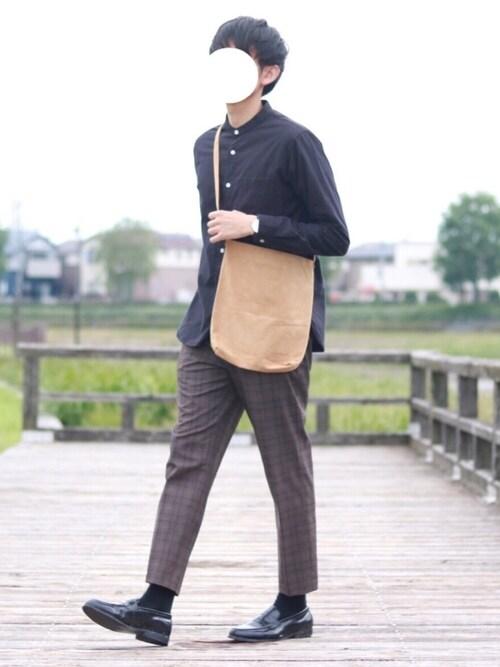 howellさんの「日本製 本革 ピッグ スウェード サコッシュ(sankyo shokai)」を使ったコーディネート