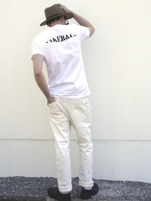 VAKERさんのTシャツ/カットソー「VAKER/ VKR TEE (IC)(VIBGYOR|ヴィブジョー)」を使ったコーディネート