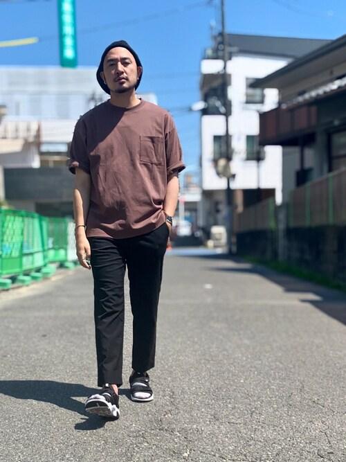 Yusuke Tanakaさんの「コットンシルケットTee(CIAOPANIC TYPY)」を使ったコーディネート