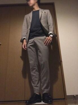 73493569232d スーツ/ネクタイを使った「オリーブ」のコーディネート一覧 - WEAR
